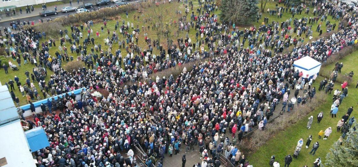 Как проходило прощание и похороны Романа Бондаренко 20 ноября в Минске