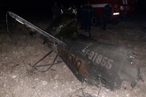 Обломки вертолета Ми-24. Фото: mes.am