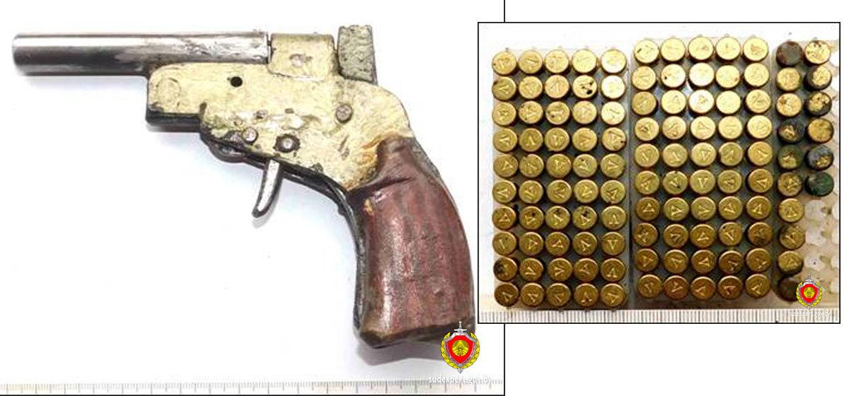 Самодельный пистолет с патронами нашел на чердаке дома житель Кобринского района