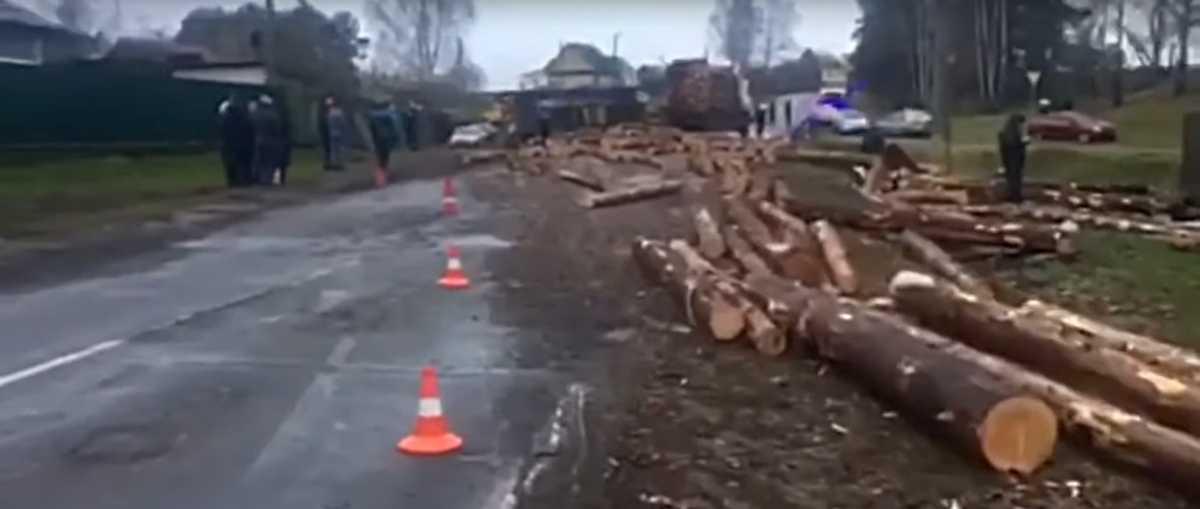 Бревна рассыпались из «МАЗа» – убили велосипедиста и ранили водителя мотоблока. Трагедия в Могилевском районе