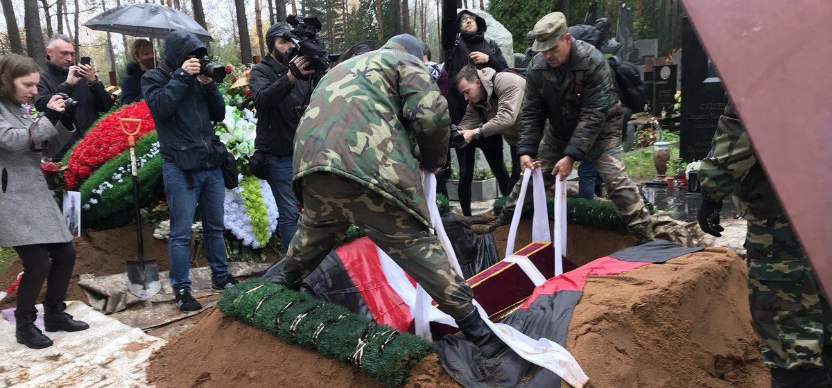 Прах Змитрока Бядули привезли из Казахстана и перезахоронили в Минске. Фото