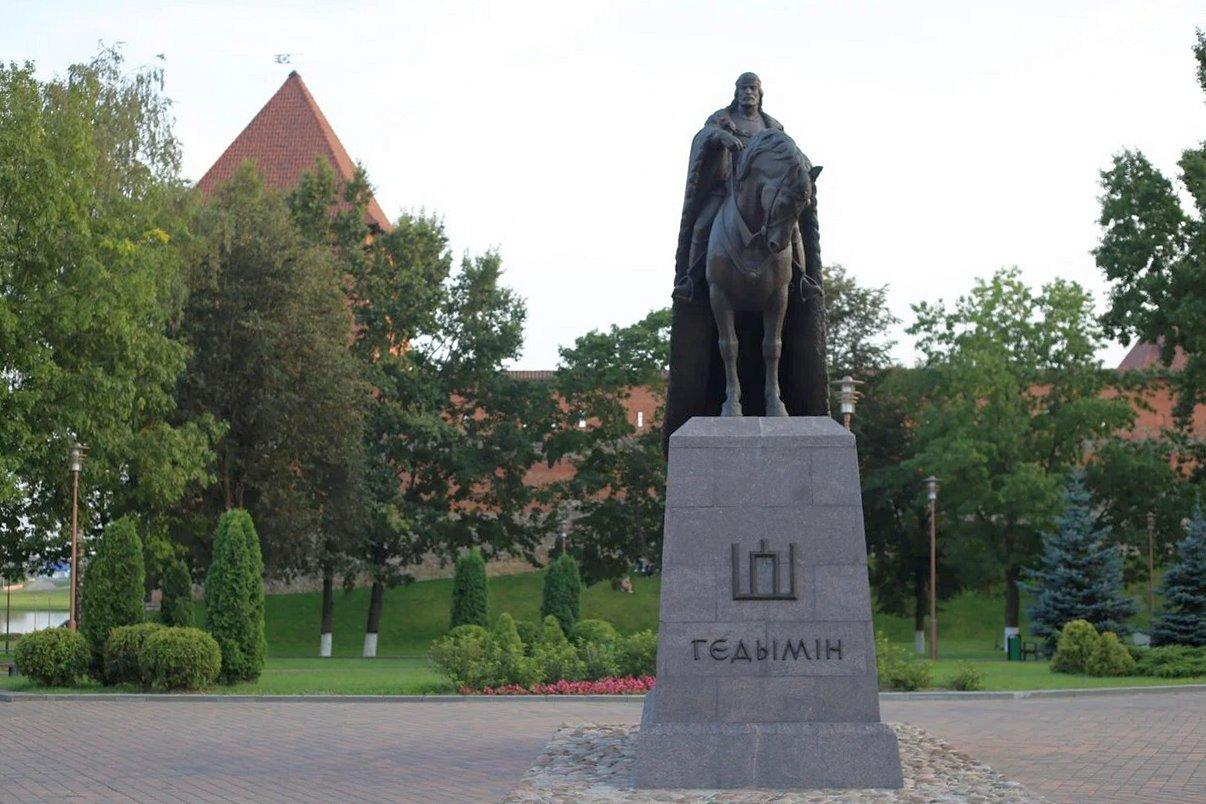 Памятник Гедемину в Лиде. Фото: Никита ПАСТУХОВ