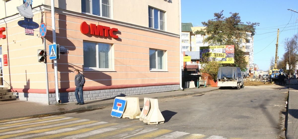 Что происходит на улице Димитрова в Барановичах и когда ее откроют для движения
