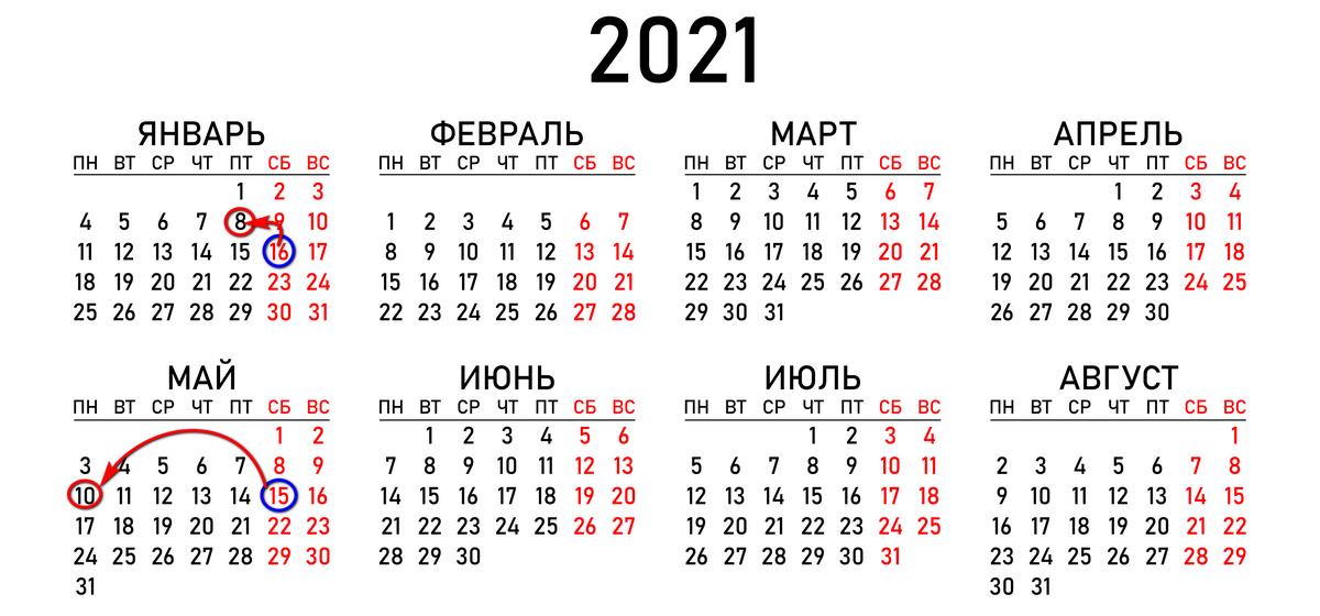 Перенос рабочих дней в 2021 году: как будут отдыхать белорусы