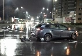 Четыре автомобиля, в числе которых – скорая и такси, столкнулись на мосту в Барановичах