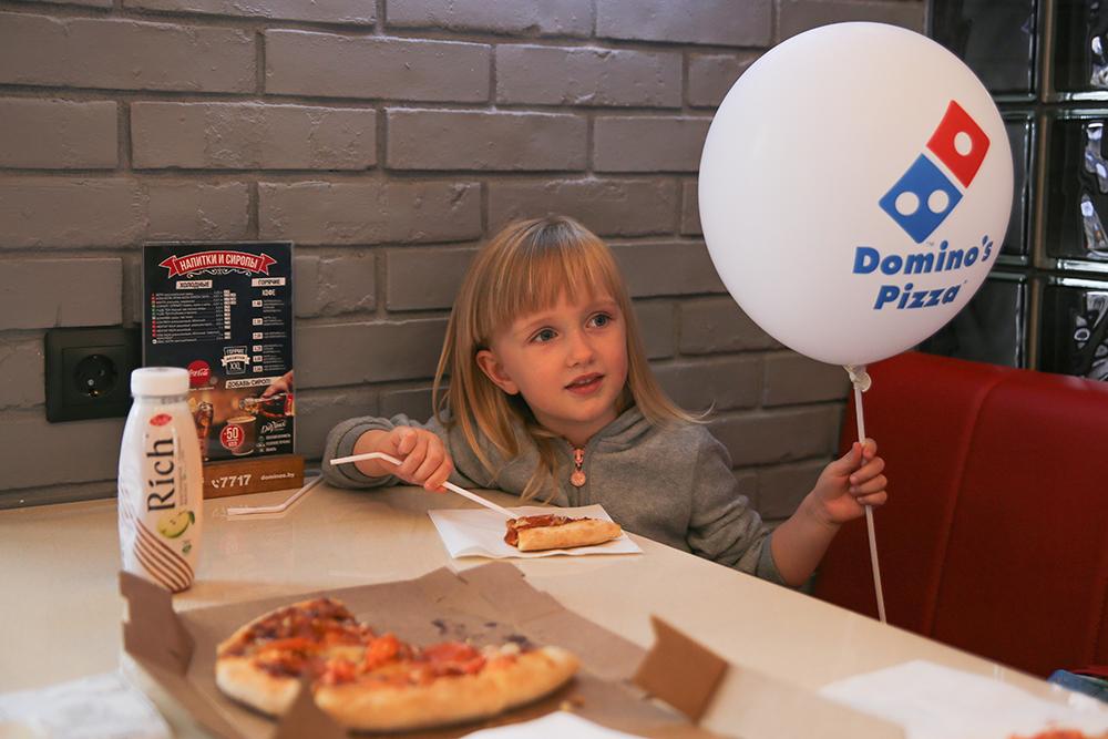 Поход в Domino's для наших маленьких гостей – это всегда праздник.