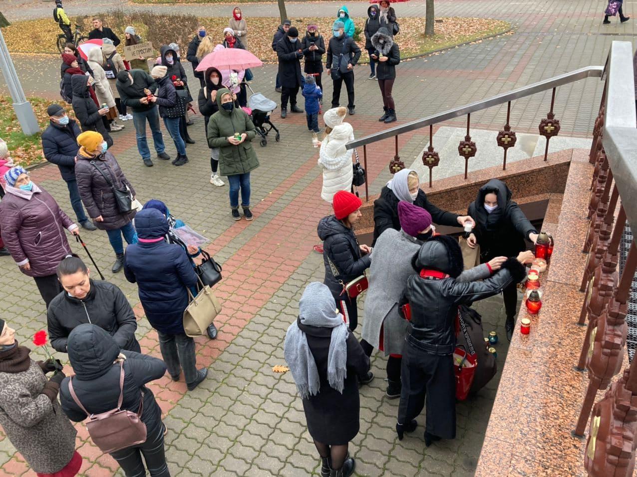 Акция памяти Романа Бондаренко 13 ноября. Фото: Диана КОСЯКИНА