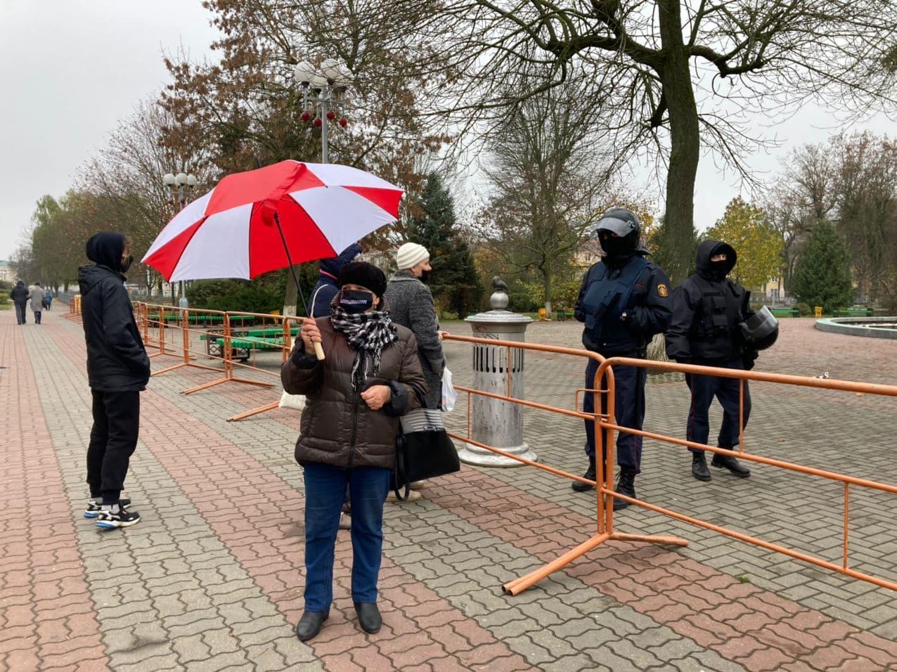 протест в Барановичах, 15 ноября