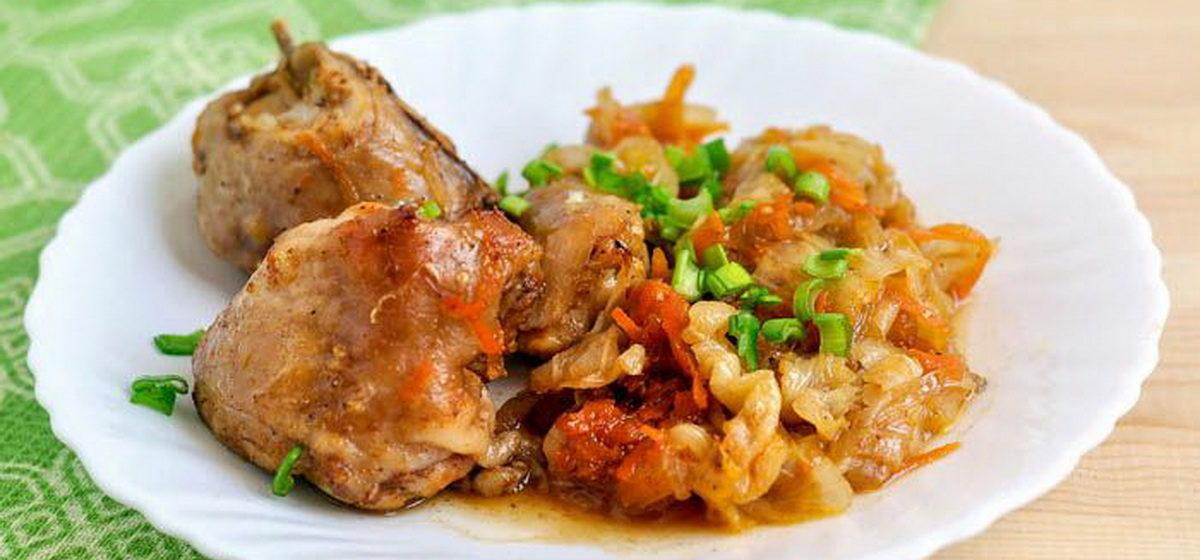 Вкусно и просто. «Бархатная» капуста с курицей в рукаве