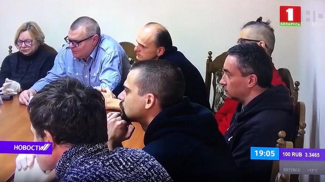 Встреча политзаключенных с Лукашенко в СИЗО. Скриншот сюжета на телеканале «Беларусь-1».