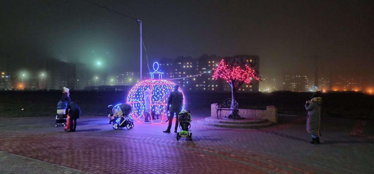 Почему не работает праздничная иллюминация в микрорайоне Боровки в Барановичах