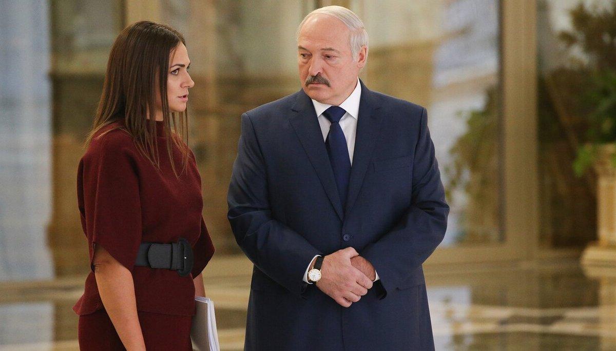 Наталья Эйсмонт и Александр Лукашенко. Фото: Meduza