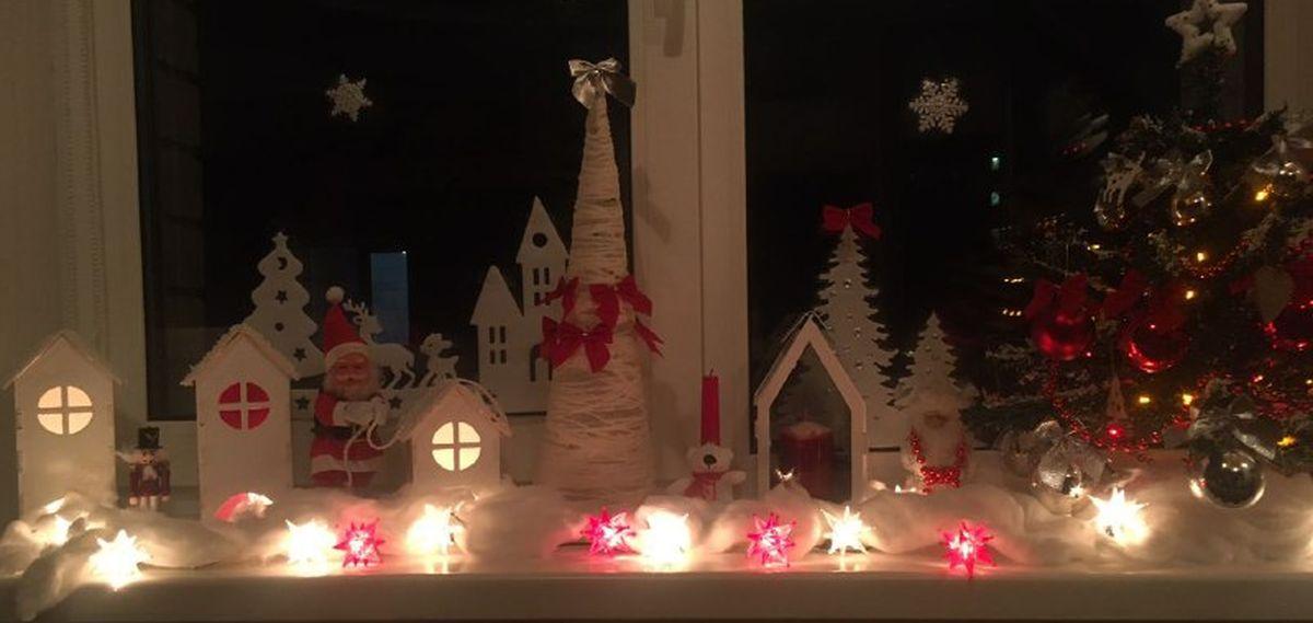 Новогодний декор одной из барановичских квартир. Фото: социальные сети