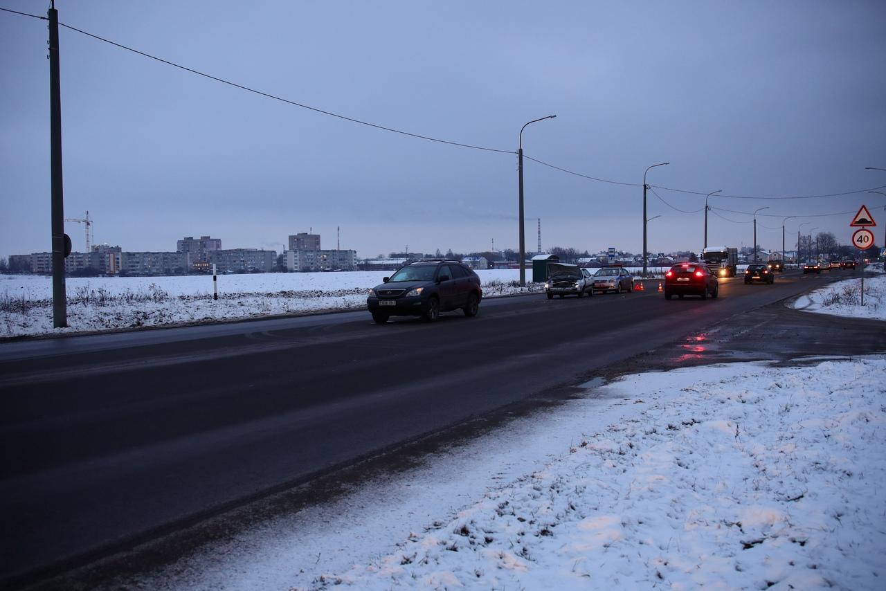 ДТП на улице Вильчковского. Фото: Александр КОРОБ