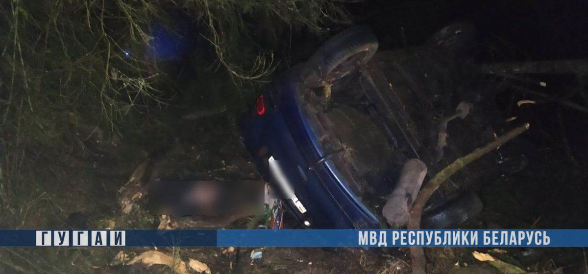 Пьяный водитель вылетел в кювет и врезался в дерево в Воложинском районе – погиб пассажир