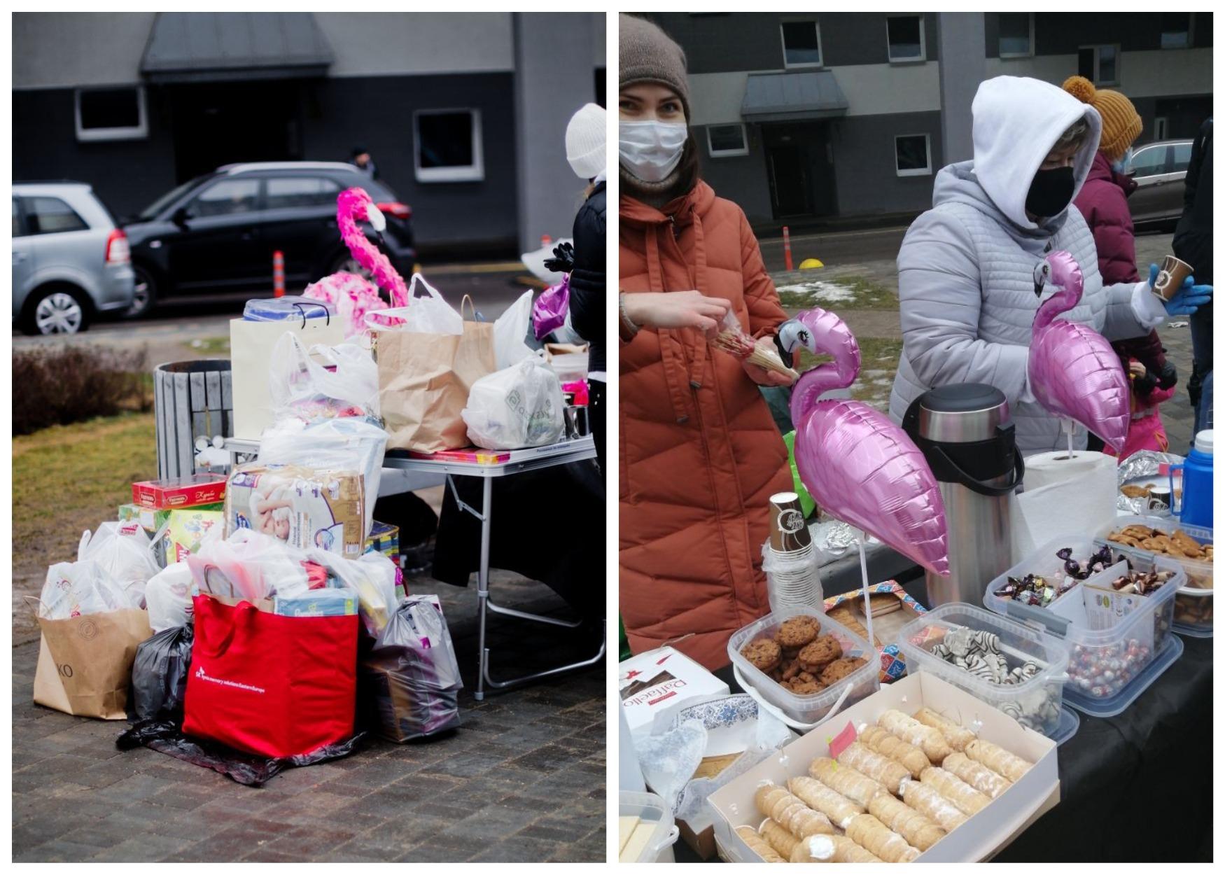 На детском празднике жители собрали подарки для детского онкологического центра (фото слева)