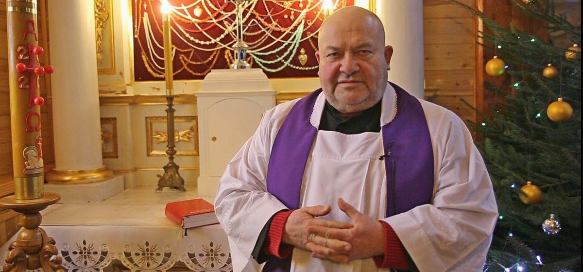 Віншаванне са святам Божага Нараджэння ад ксяндза Валянціна Новака