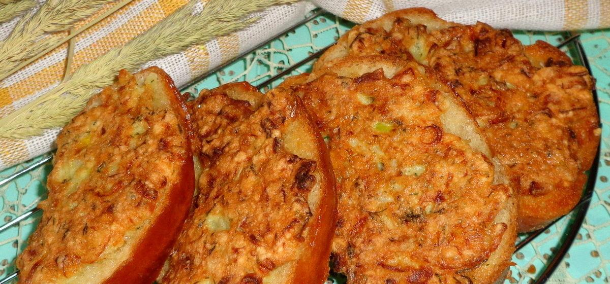 Вкусно и просто. Жареные луковые бутерброды