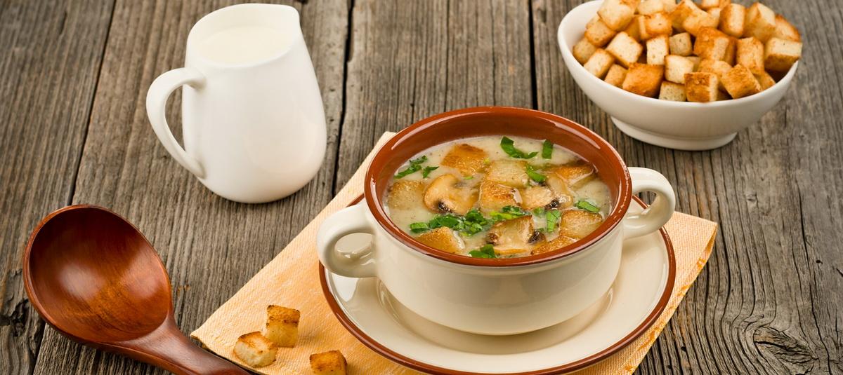 Вкусно и просто. Бархатный грибной суп