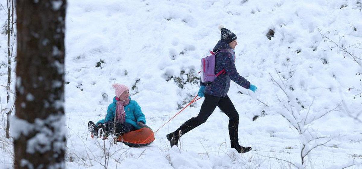Что происходит на лыжероллерной трассе Барановичского района после того, как выпал снег. Фото