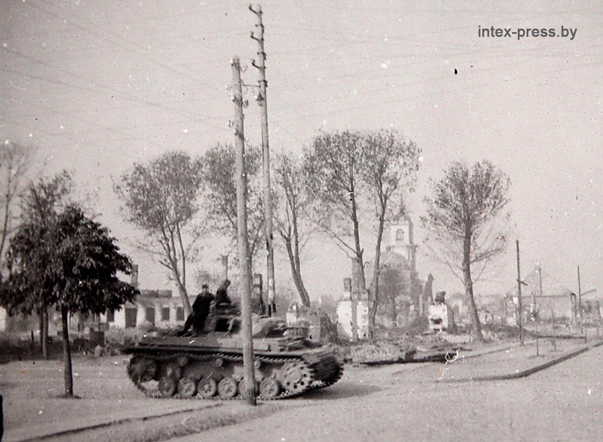 Танк 18 танковой дивизии на современной улице Лисина, 27 июня 1941 года. Фото: 1871.BY