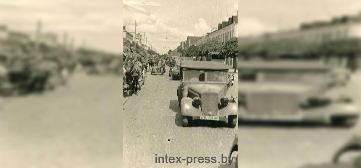 Дивизия «Великая Германия» на современной улице Советской, 27 июня 1941 года. Фото: 1871.BY (Сергей Саханко)
