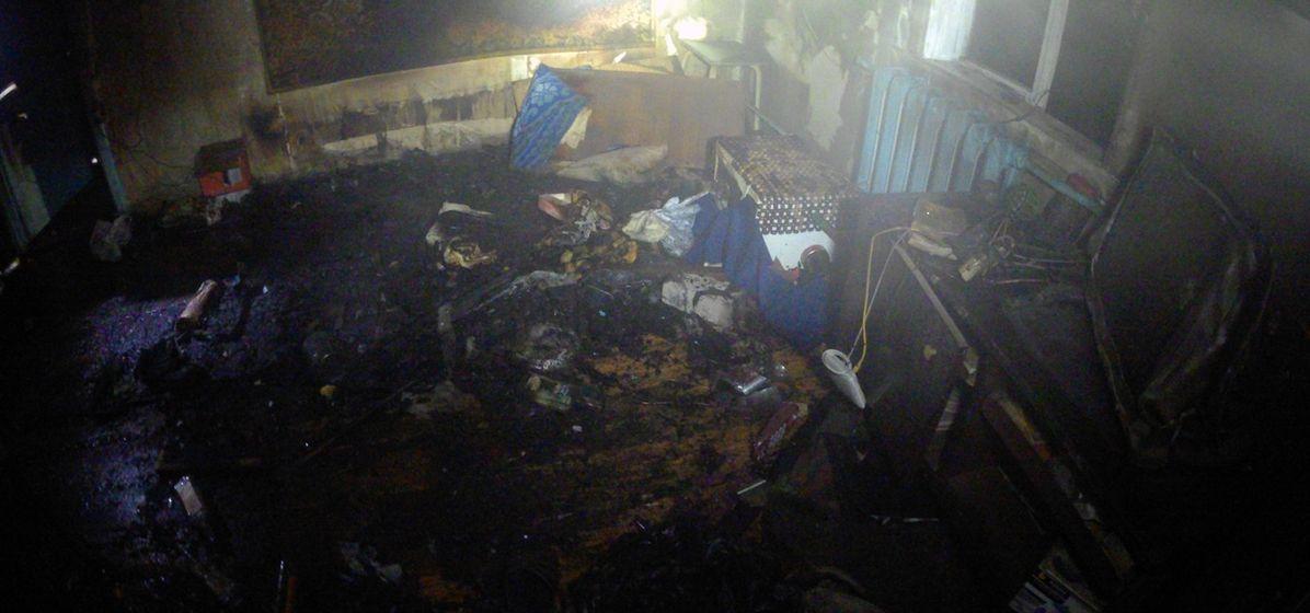 Мужчина погиб на пожаре в Барановичах