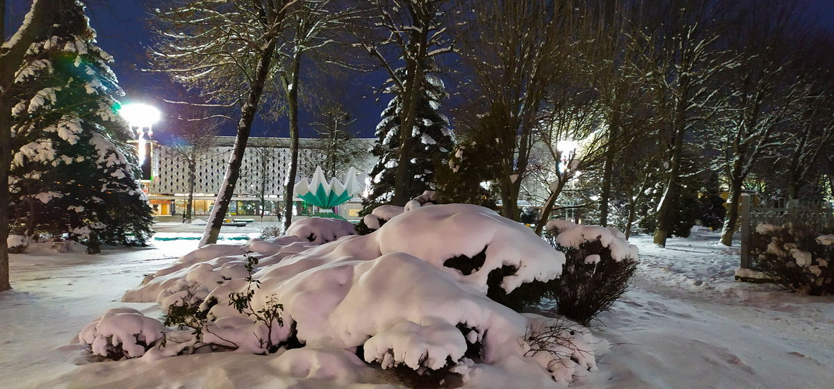 Заснеженные Барановичи. Красивые январские снимки города