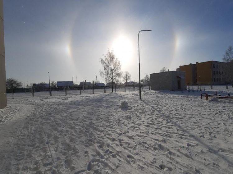 Солнечное гало над Барановичами. Фотофакт
