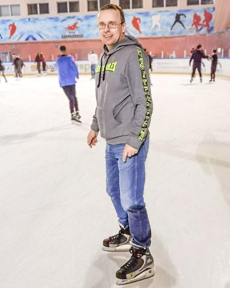 23 января, Алексей Томашевский в Барановичском ледовом дворце. Фото: Вадим ЗАХАРЕНКО