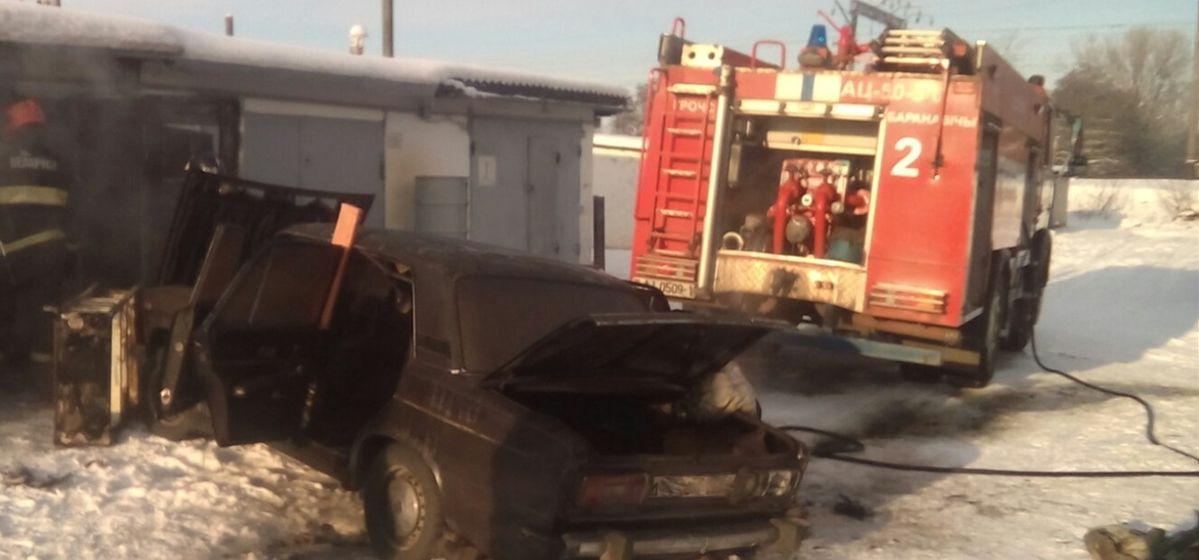 Гараж с машиной горел в Барановичах