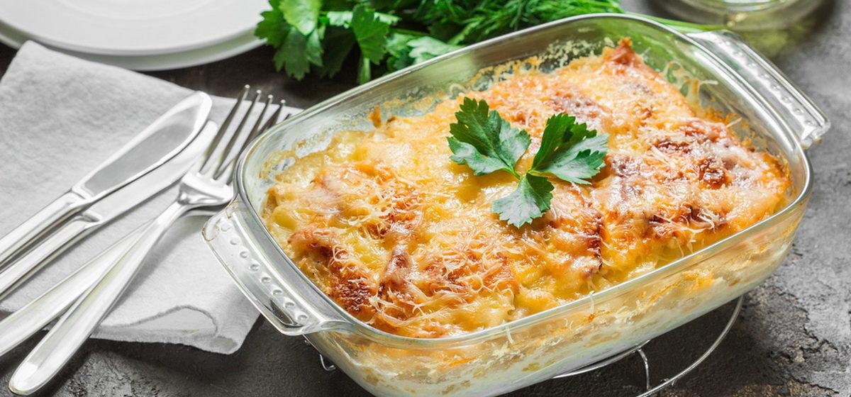 Вкусно и просто. Картофельная запеканка с грибами и куриной грудкой