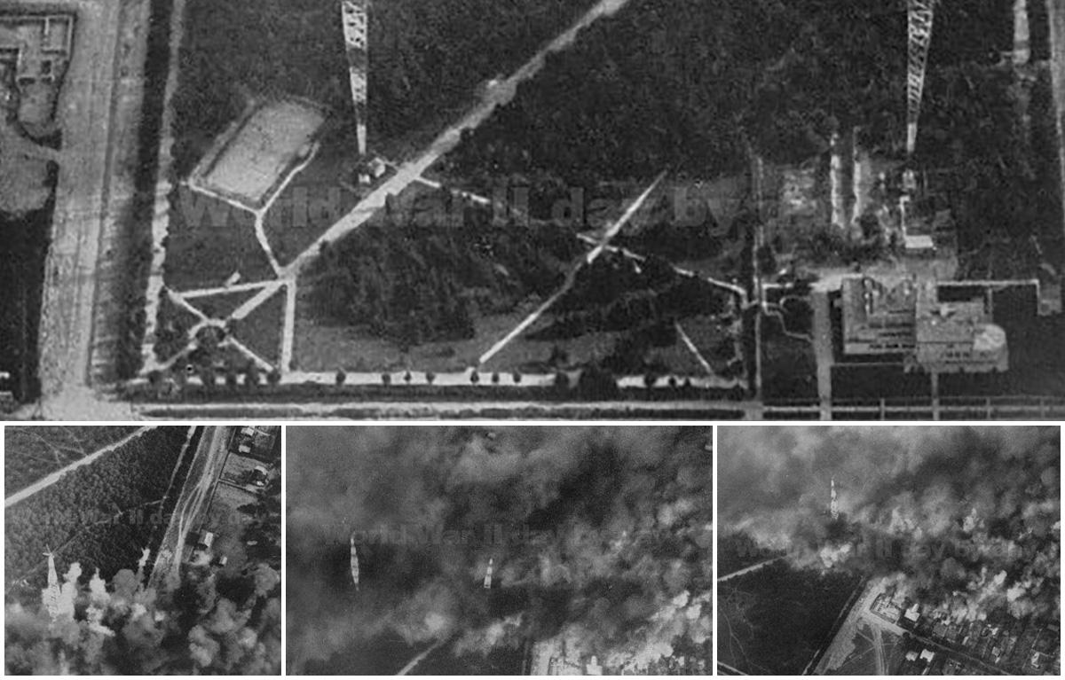 Бомбежка радиостанции в Барановичах, 15 сентября 1939 года. Фото: otkrywca.pl