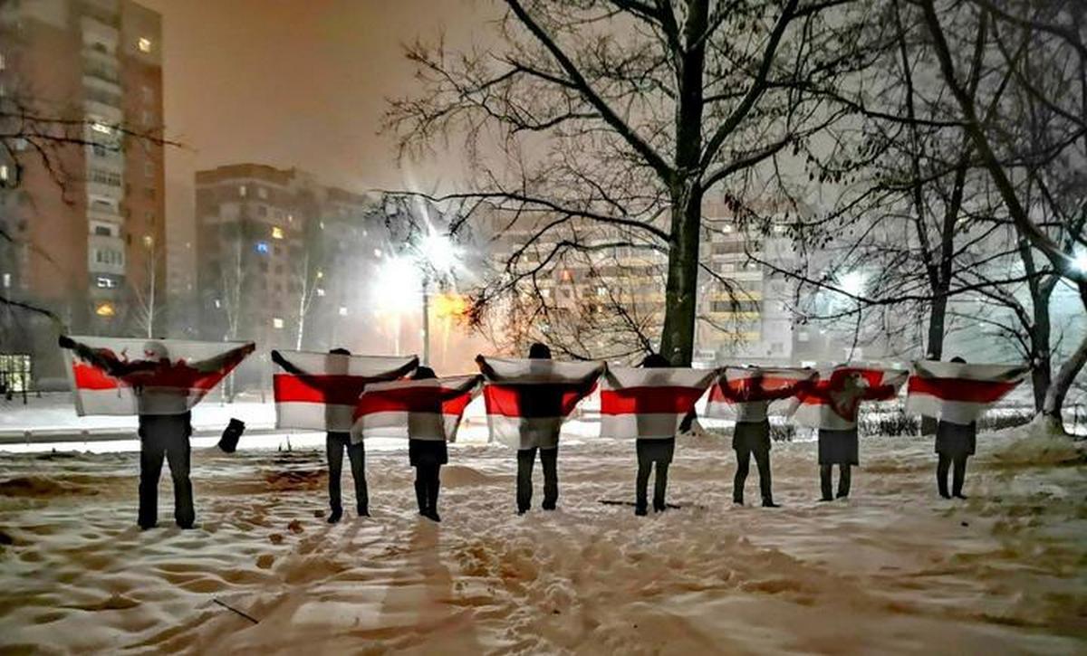 Акция солидарности в Витебске. Фото: TUT.BY
