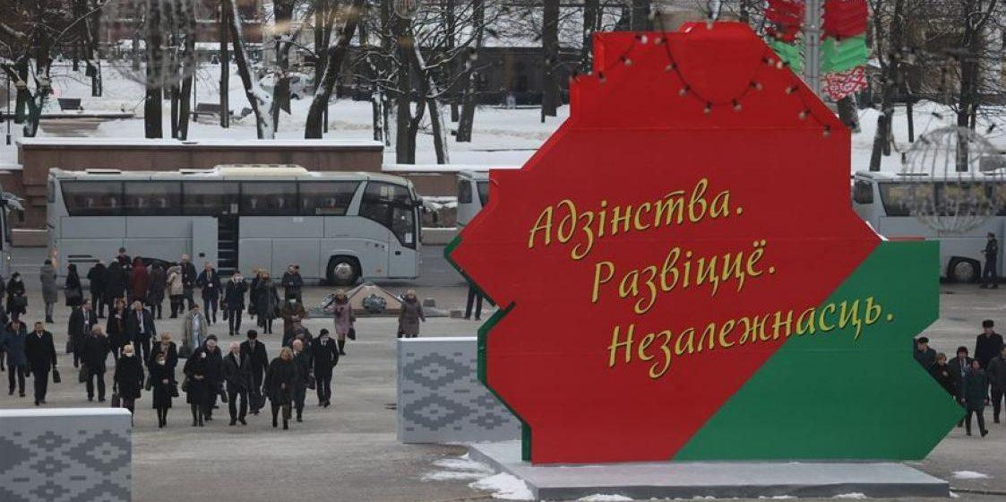 Посмотрите, как в Минске автомобилисты реагировали на участников Всебелорусского народного собрания. Видео