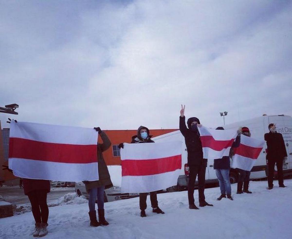 Акция в Лошице. Фото: NNNN