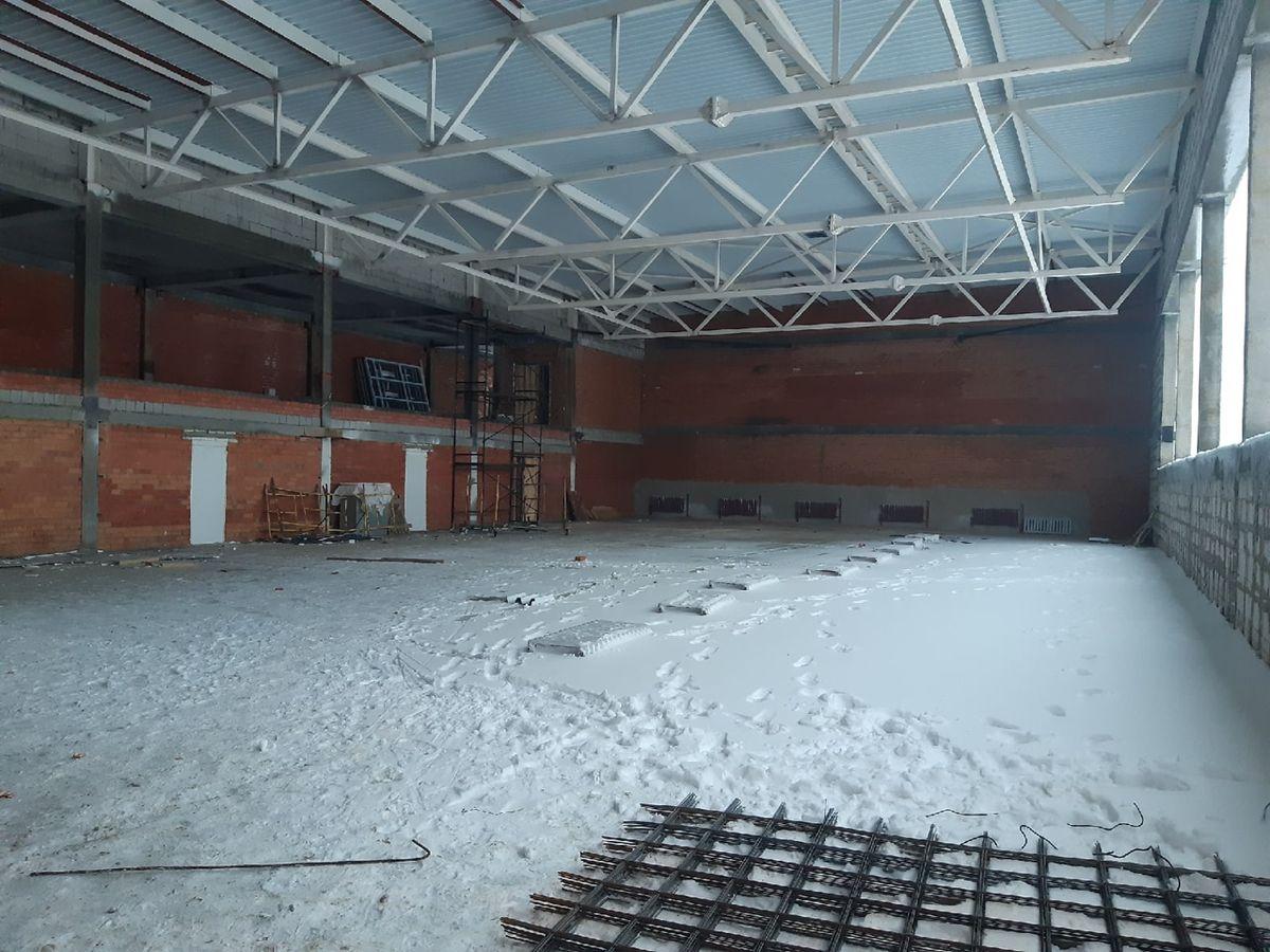 Будущий спортзал в школе. Фото: Елена ЗЕЛЕНКО