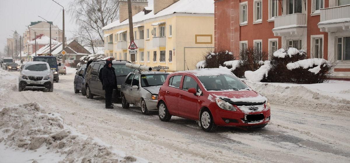 ДТП с участием четырех машин произошло в Барановичах