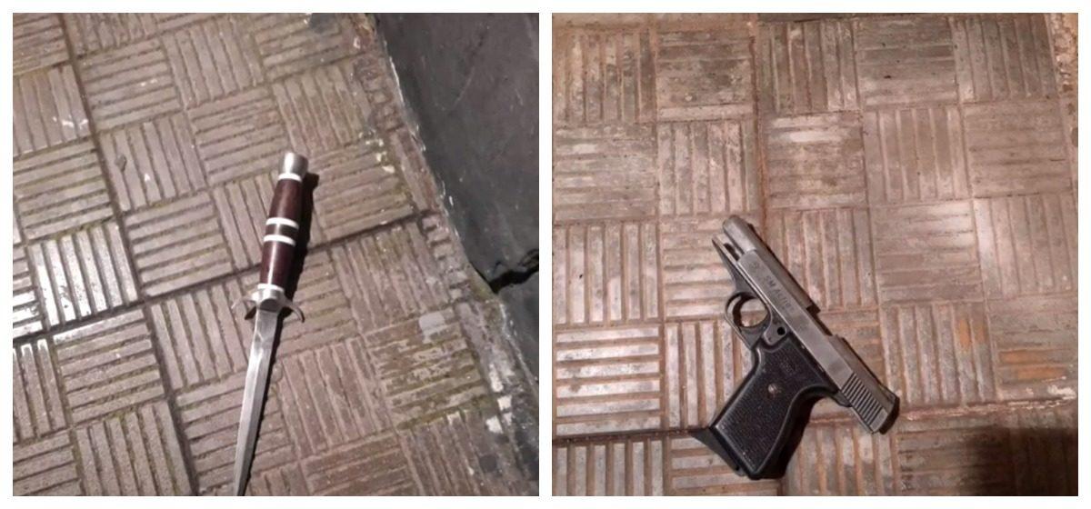 Пенсионер с ножом и пистолетом пытался вломиться в здание отдела охраны в Скиделе