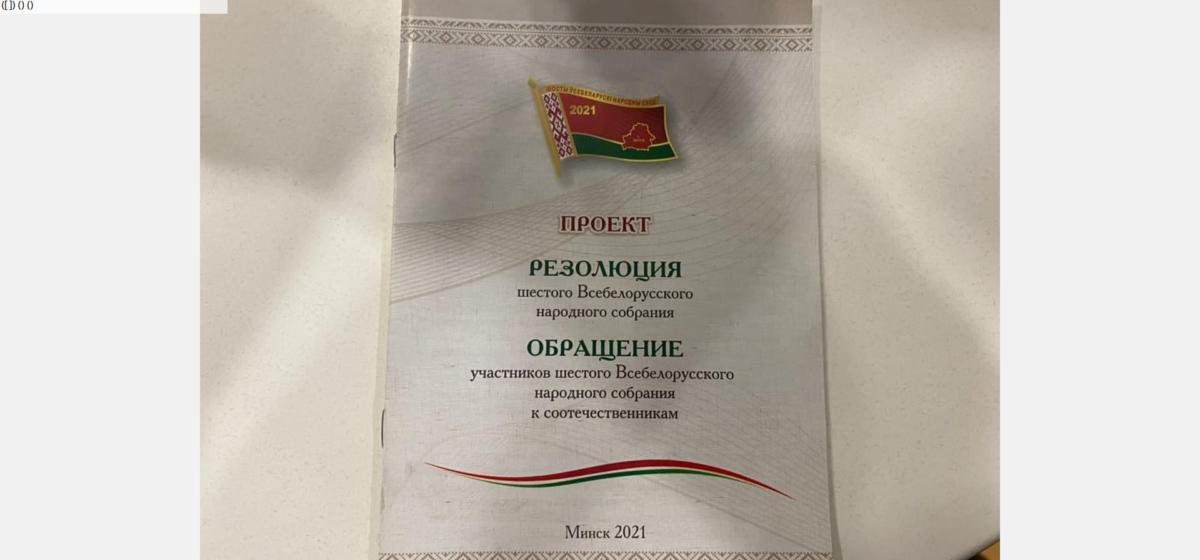 Появилась резолюция «Всебелорусского народного собрания»: статус собрания закрепить в законе, подготовить изменения в Конституцию