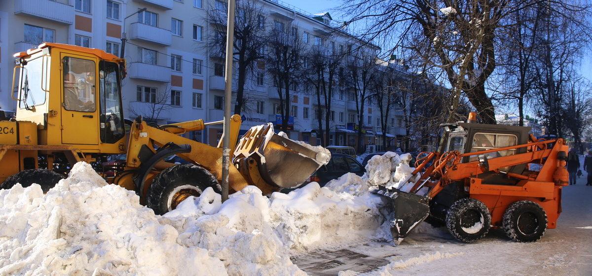Как убирают снег в Барановичах. Фотофакт