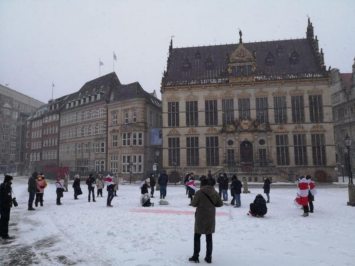 Акция в Бремене. Фото: читатель NNNN