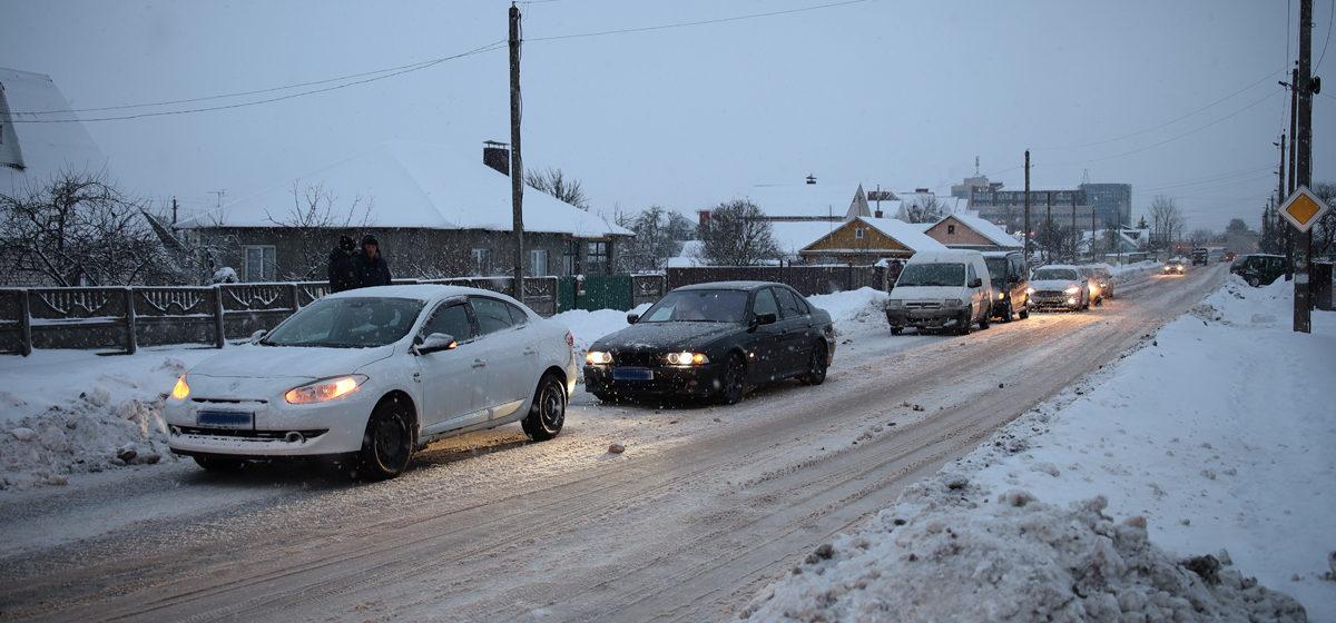 Сразу шесть автомобилей столкнулись в Барановичах