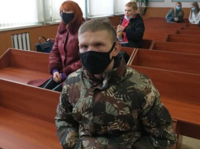 Дмитрий Гопта в суде в день приговора. Фото: «Радио Свобода»