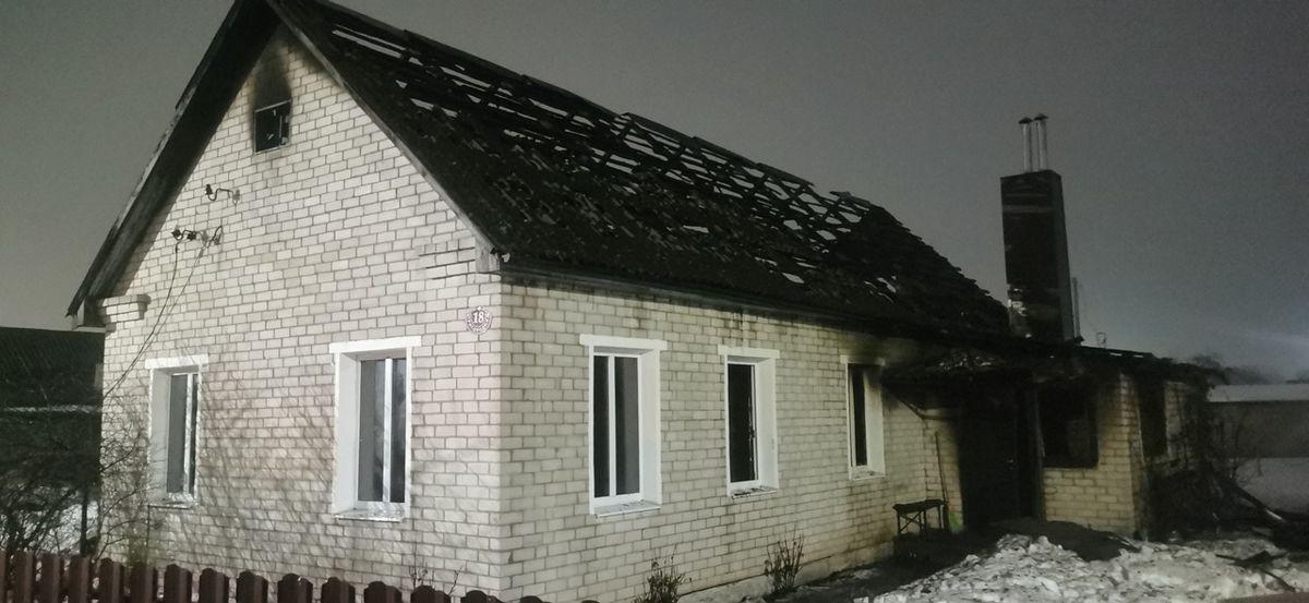 Жилой одноэтажный дом горел в Барановичах