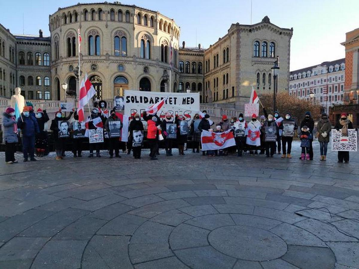 Акция в Осло. Фото: читатель NNNN