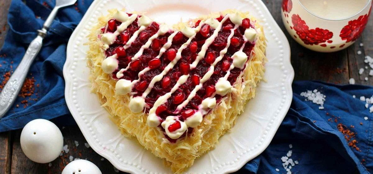 Вкусно и просто. Салат в виде сердца на 14 февраля