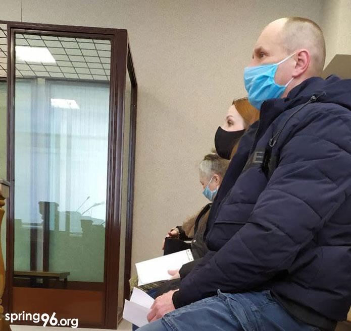 Подсудимый в зале суда. Фото spring96.org
