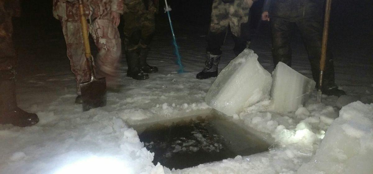 Как спасали рыбу от мора на карьере под Барановичами. Фото
