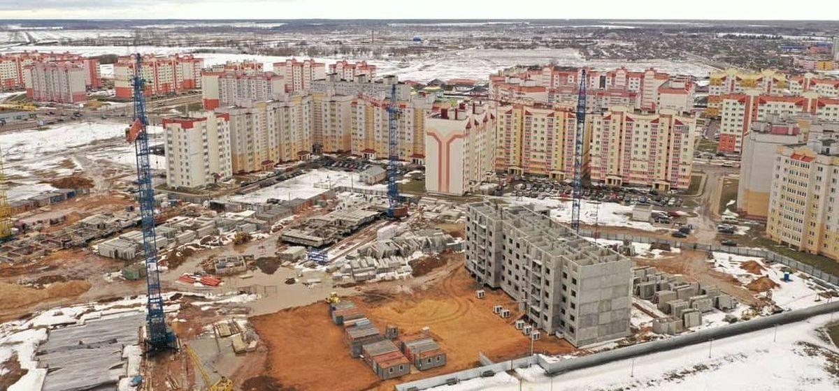 Как выглядят крупные стройки в Боровках с высоты птичьего полета. Крутые фото
